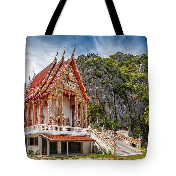 Mountain Temple Tote Bag by Adrian Evans