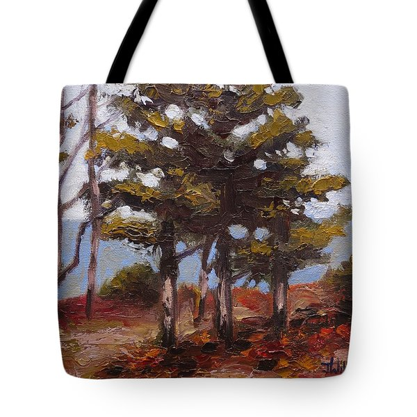 Mountain Top Pines Tote Bag