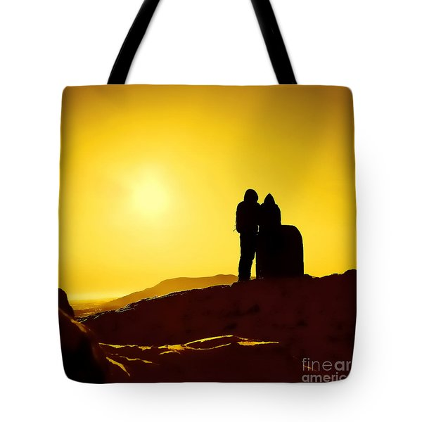 Tote Bag featuring the photograph Mountain Top Sunset by Craig B