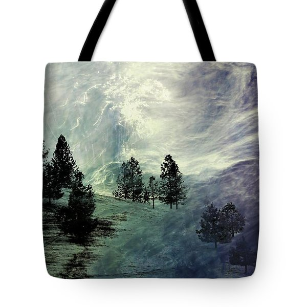 Tote Bag featuring the photograph Mountain View by Athala Carole Bruckner