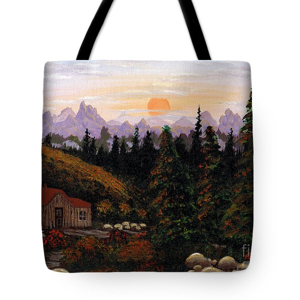 Mountain View Tote Bag by Barbara Griffin