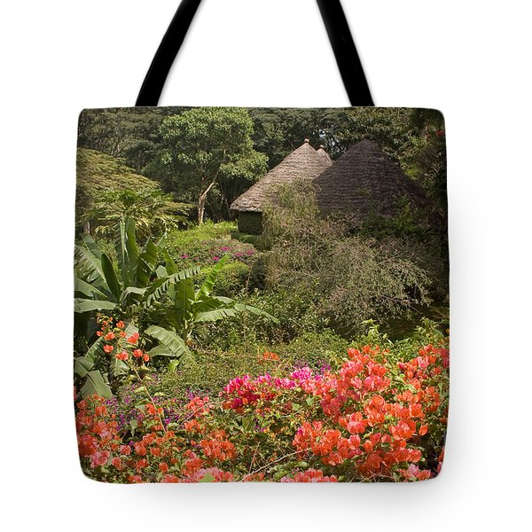 Tote Bag featuring the photograph Mountain Village Lodge by Chris Scroggins