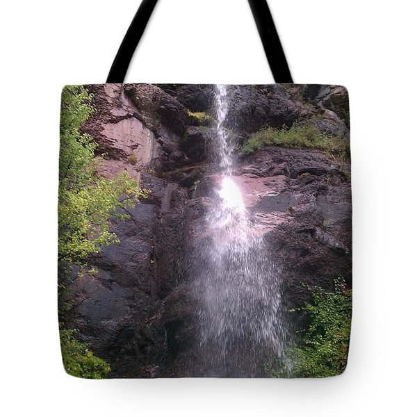 Tote Bag featuring the photograph Mountain Waterfall by Fortunate Findings Shirley Dickerson