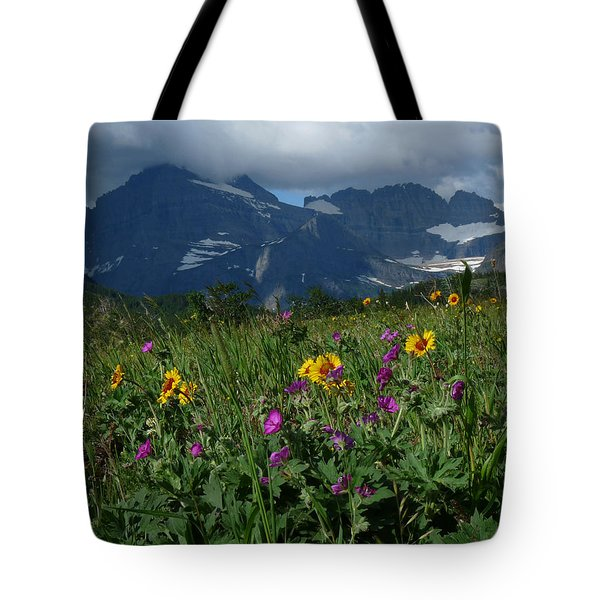 Mountain Wildflowers Tote Bag by Alan Socolik
