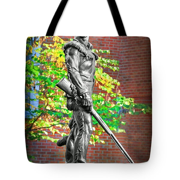Mountaineer Statue Tote Bag