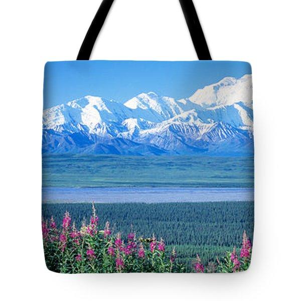 Mountains & Lake Denali National Park Tote Bag
