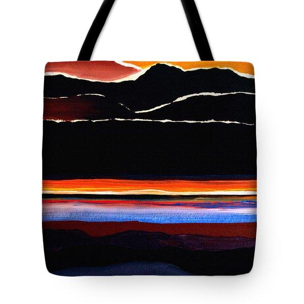Mountains Abstract Tote Bag by Karon Melillo DeVega