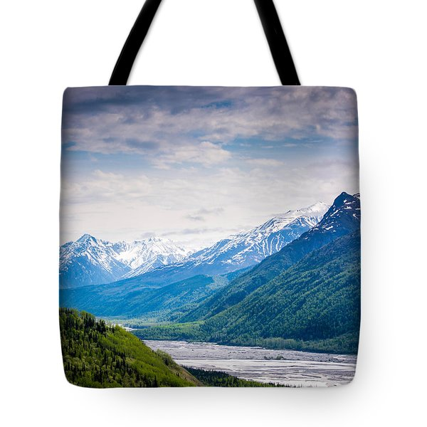 Mountains Along Seward Highway Tote Bag