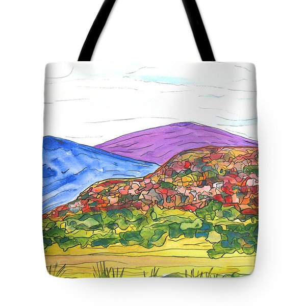 Mountains And South Mesa Tote Bag by Kerry Bennett
