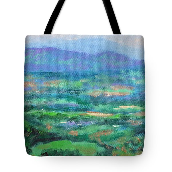 Mountains And Valleys- Summertime Along The Blue Ridge Parkway Tote Bag by Bonnie Mason