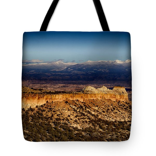 Mountains At Senator Clinton P. Anderson Scenic Route Overlook  Tote Bag by Douglas Barnard