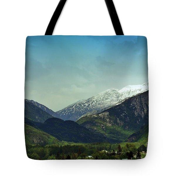 Mountains Beyond Skagway Tote Bag