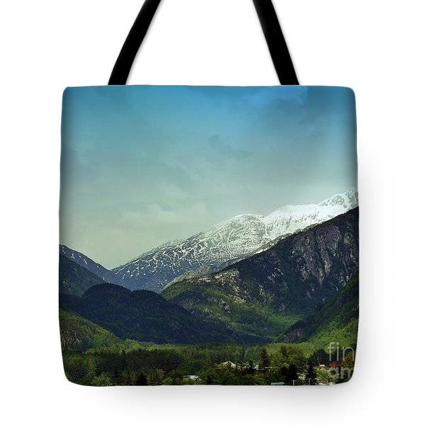 Mountains Beyond Skagway Tote Bag