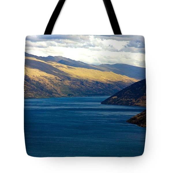 Tote Bag featuring the photograph Mountains Meet Lake #2 by Stuart Litoff