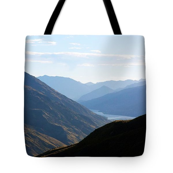 Tote Bag featuring the photograph Mountains Meet Lake #3 by Stuart Litoff