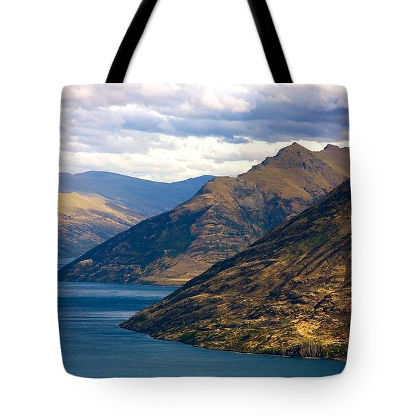 Mountains Meet Lake Tote Bag