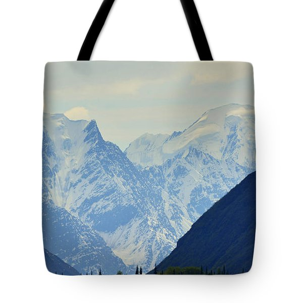 Mountains Near Matanuska Glacier Tote Bag