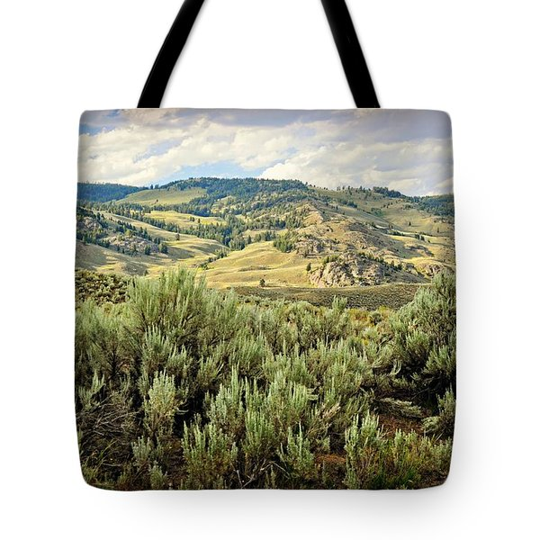 Mountains North Of The Lamar Tote Bag by Marty Koch