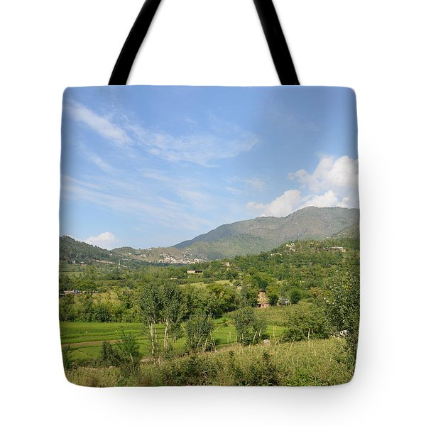 Tote Bag featuring the photograph Mountains Sky And Clouds Swat Valley Pakistan by Imran Ahmed