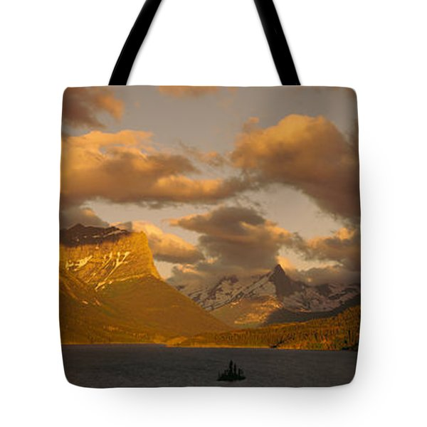 Mountains Surrounding A Lake, St. Mary Tote Bag
