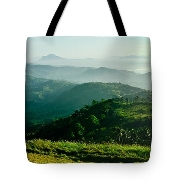 Mountaintop Panorama Tote Bag