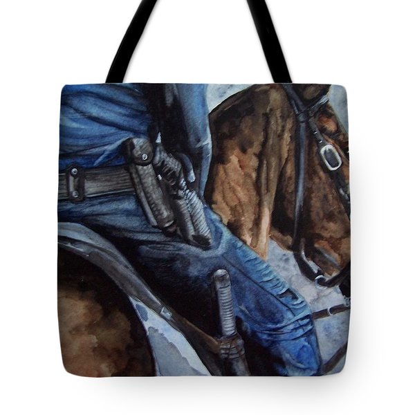 Mounted Patrol Tote Bag