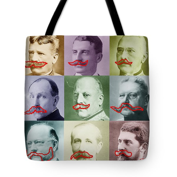 Moustaches Tote Bag by Tony Rubino