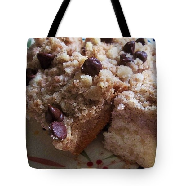 Mouthwatering Crumb Cake Tote Bag