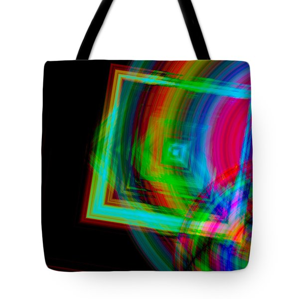 Movement Mingling With Color Tote Bag by Teri Schuster