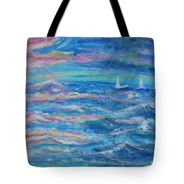 Tote Bag featuring the painting Movin' In by Diane Pape