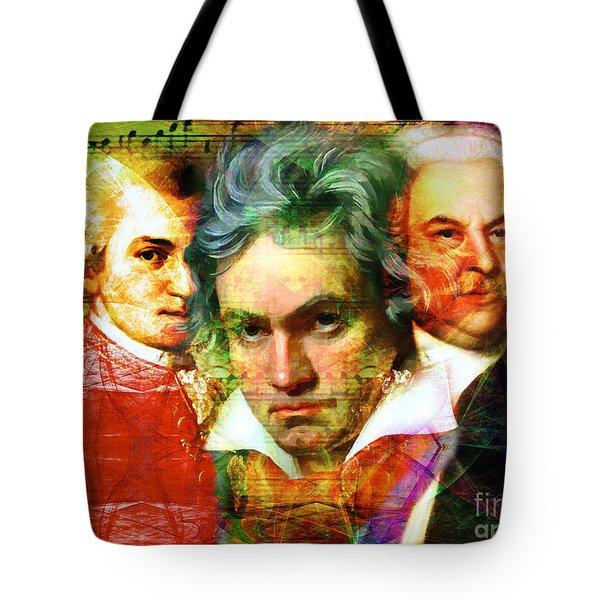 Mozart Beethoven Bach 20140128 Tote Bag