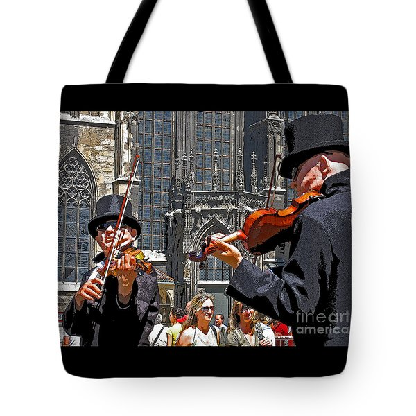 Tote Bag featuring the photograph Mozart In Masquerade by Ann Horn