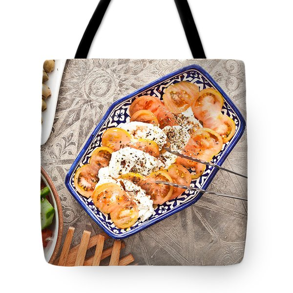 Mozzarella And Tomato Tote Bag