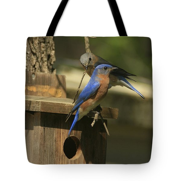 Mr. And Mrs. Bluebird Tote Bag
