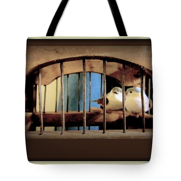 Mr. And Mrs Tweety In Sepia  Tote Bag