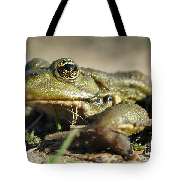 Tote Bag featuring the photograph Mr. Charming Eyes. Side View by Ausra Huntington nee Paulauskaite