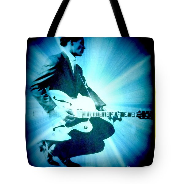 Mr Chuck Berry Blueberry Hill Style Edited Tote Bag by Kelly Awad