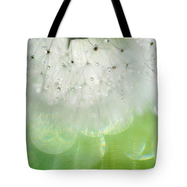 Mr. Dandelion. Inner Light Tote Bag by Jenny Rainbow