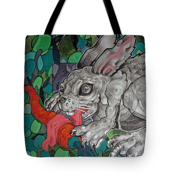 Mr Greedy Bunny Tote Bag