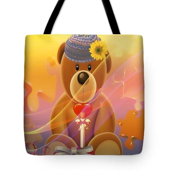 Mr. Teddy Bear Tote Bag