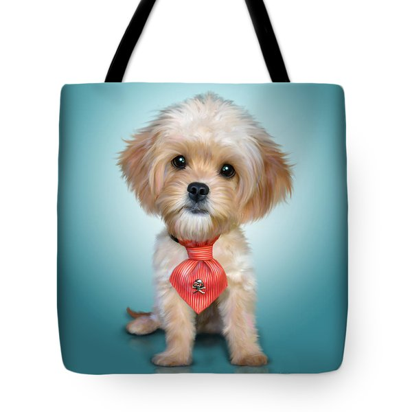 Mr. Toby Waffles The Cavapoo Tote Bag