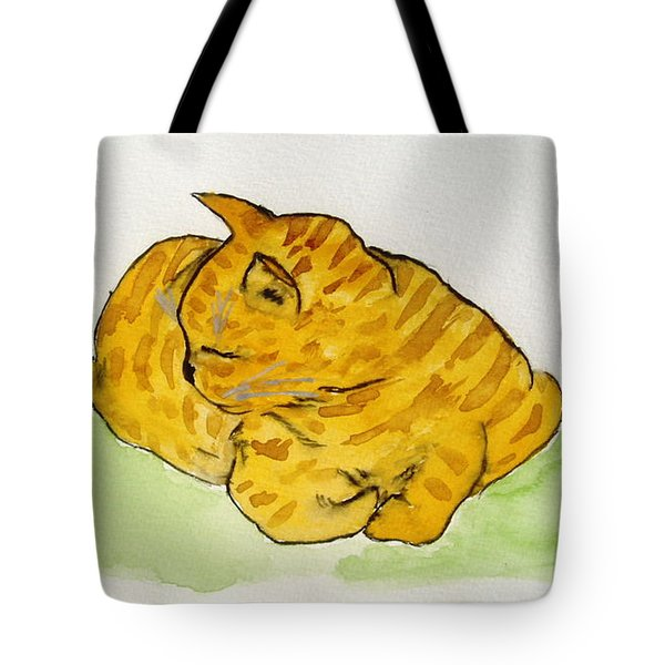 Tote Bag featuring the painting Mr. Yellow by Reina Resto