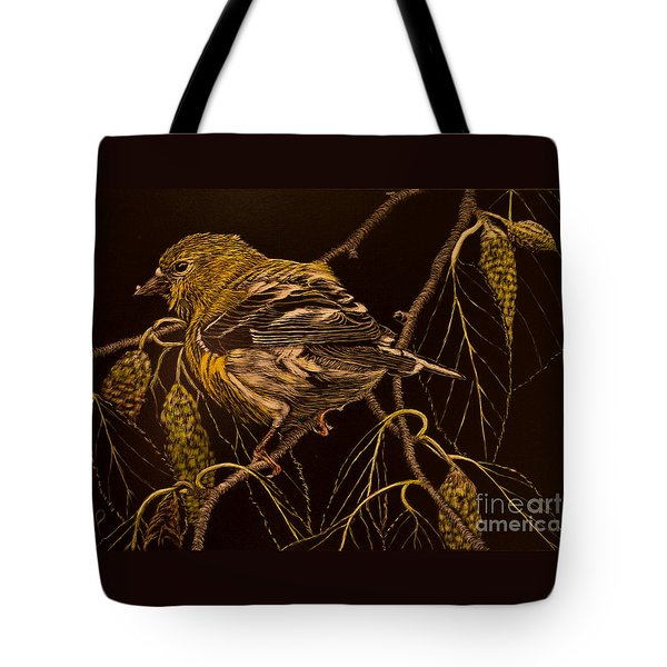 Mrs Goldfinch Tote Bag