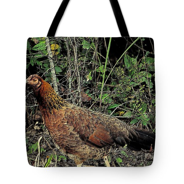 Ms. Chicken Tote Bag by Maria Urso