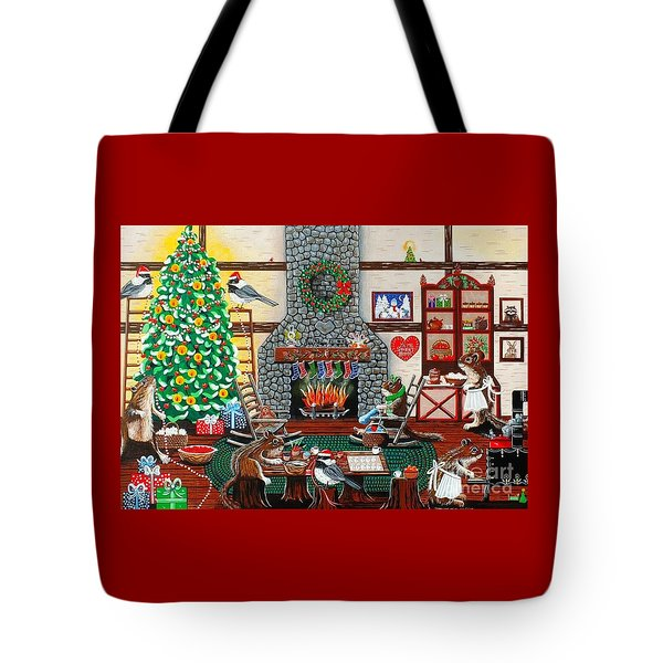 Ms. Elizabeth's Holiday Home Tote Bag