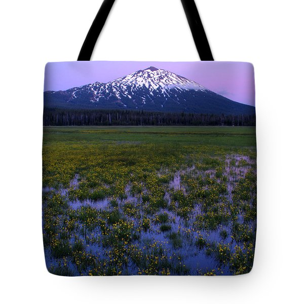 Tote Bag featuring the photograph Mt. Bachelor Twilight by Kevin Desrosiers