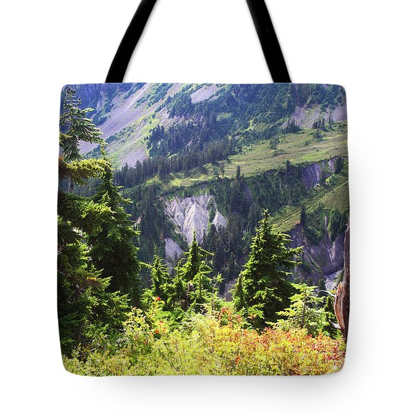 Mt. Baker Washington Tote Bag by Tom Janca