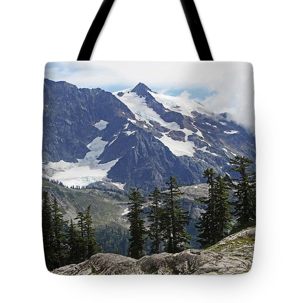Mt Baker Washington View Tote Bag by Tom Janca