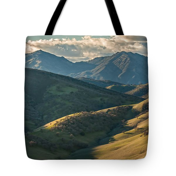 Mt Diablo And Afternoon Shadows Tote Bag