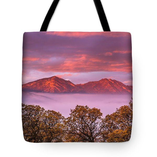 Mt Diablo In The Early Morning Light Tote Bag by Marc Crumpler